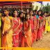 मूर्ति स्थापना को लेकर 108 कुँवारी कन्याओं के द्वारा भव्य कलश यात्रा