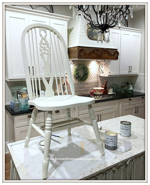 French Country-Farmhouse-Dining Room-Chalk Paint-Fiddleback Chair-From My Front Porch To Yours