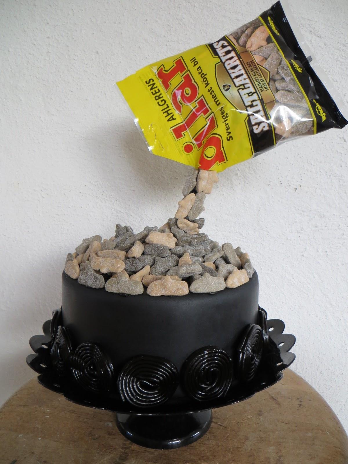 tårta choklad hallon lakrits