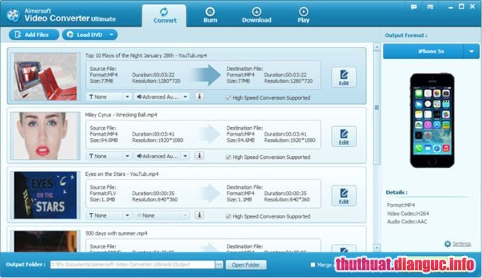 Download Aimersoft Video Converter Ultimate 10.2.6.174 Full Cr@ck – Chuyển đổi Video Audio