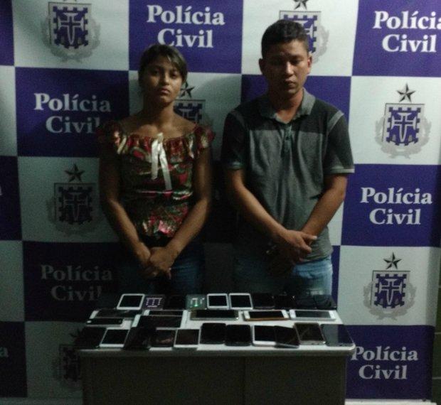 Casal tentava fugir para o Maranhão após roubar 29 celulares (Foto: Divulgação/Polícia Civil)