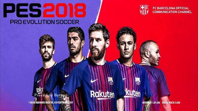 Barcelona Start Screen PES 2017