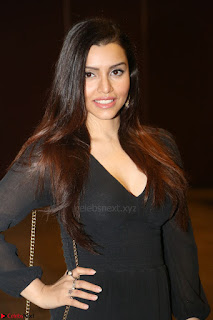 Kyra Dutta in black At Rogue Movie Audio Launch ~  046.JPG