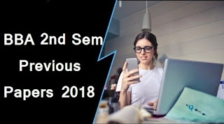 BBA 2nd Sem Previous Question Papers 2018 Mdu (Maharshi Dayanand University)