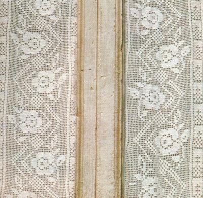 Professione donna schemi per il filet tendine a vetro con i fiori - Tendine filet per bagno ...
