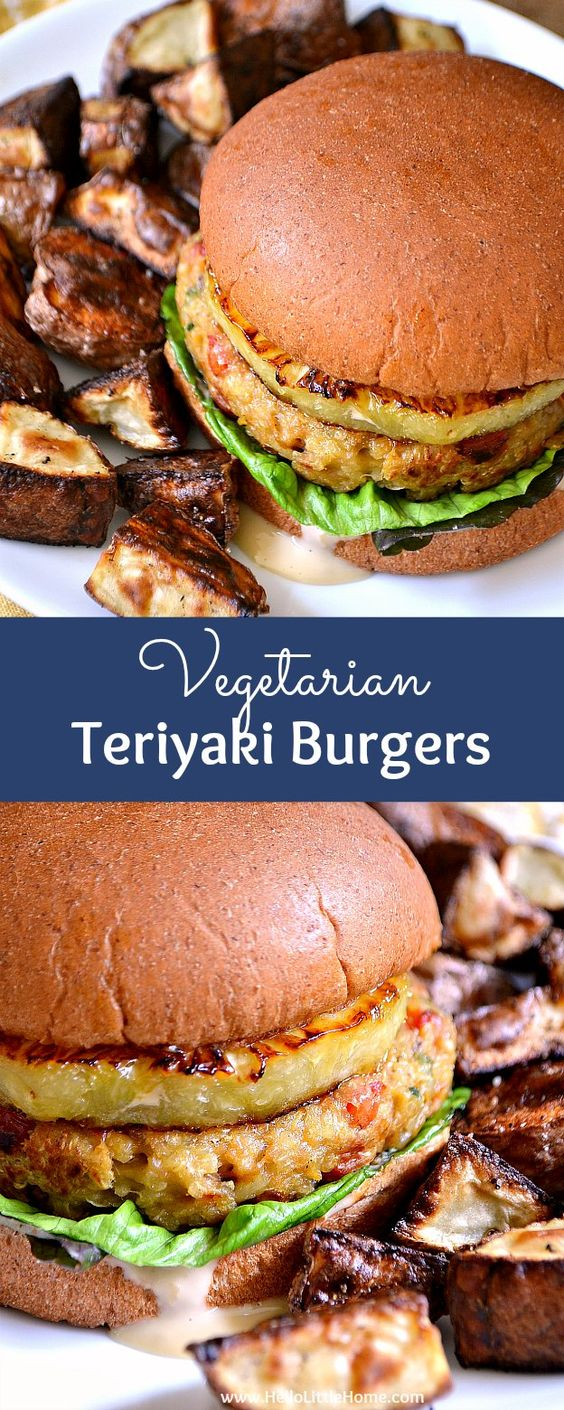 VEGETARIAN TERIYAKI BURGERS #vegetarianrecipes #easyvegetarianrecipes #teriyaki #burgers #veggies