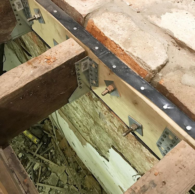 timber wall plate to support floor joists