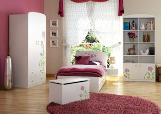 dormitorio color rosa adolescente