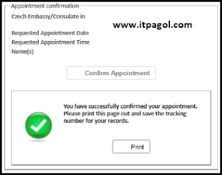Click Confirm Appointment.