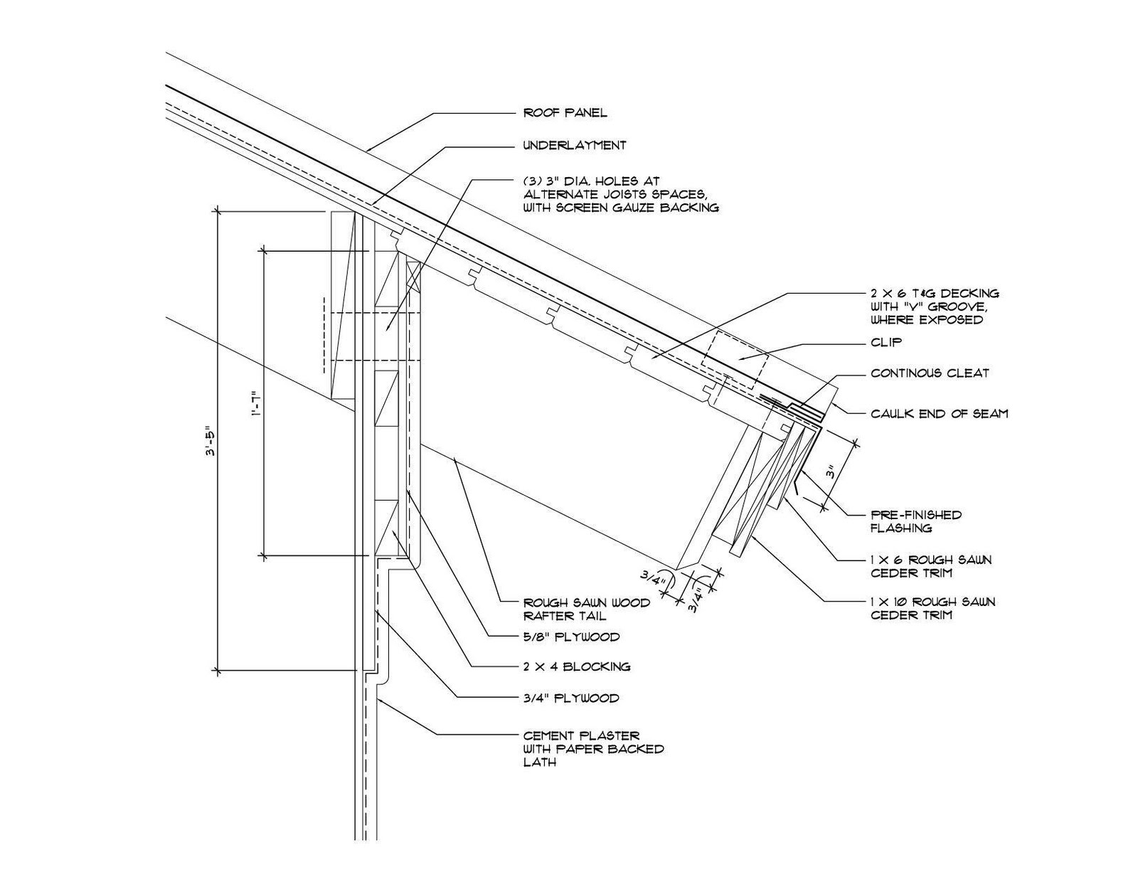 Jerold L Dougal Architect Soffit Design