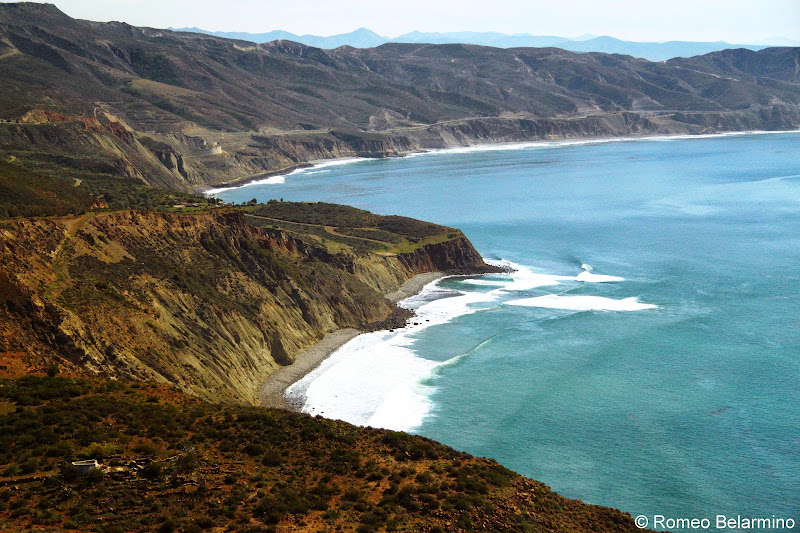 Pacific Coast View Road to Ensenada Baja California Mexico