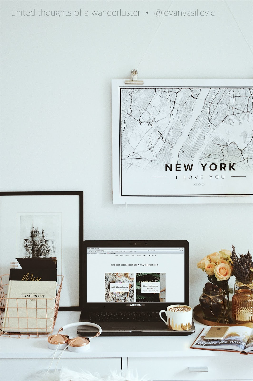 do it yourself : hanging frame X desk situation | United Thoughts of ...