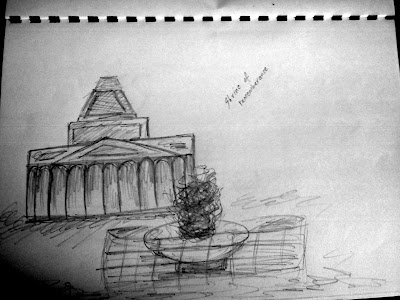 Shrine of Remeberance Sketch, Melbourne