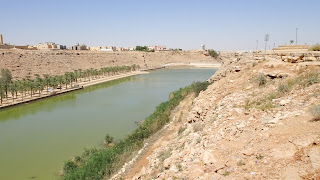 Handmade river in Saudi Arabia