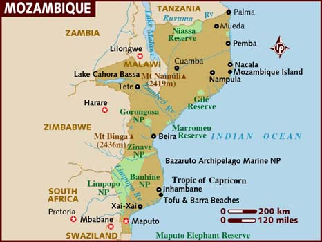 Mozambique Facts In Hindi