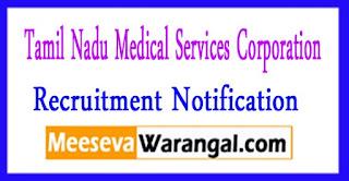 TNMSC (Tamil Nadu Medical Services Corporation Ltd) Recruitment Notification 2017