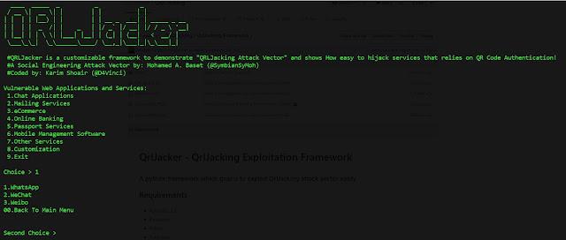QrlJacker - QrlJacking Exploitation Framework