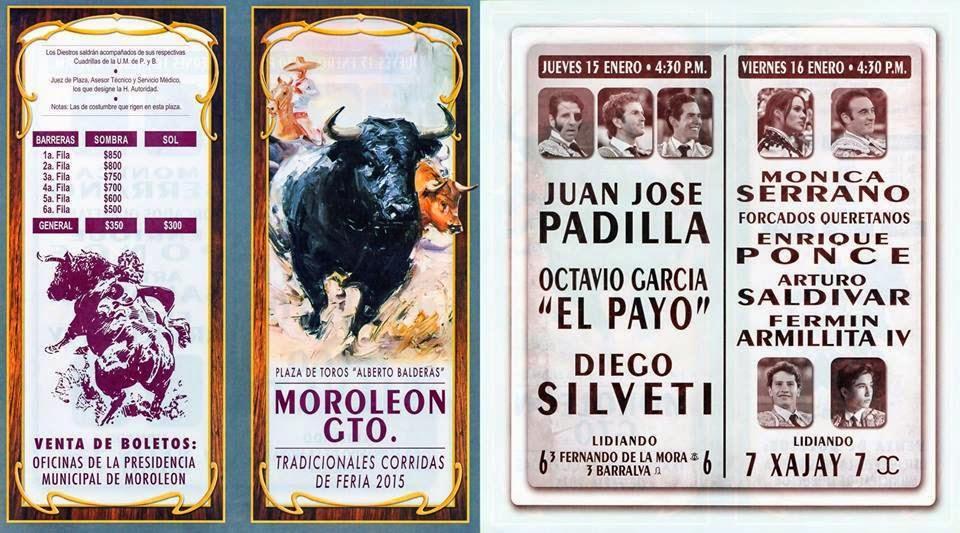 cartel de toros de la feria Moroleón 2015