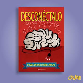 DESCONECTALO POSTER ILUSTRACION POR CANAM