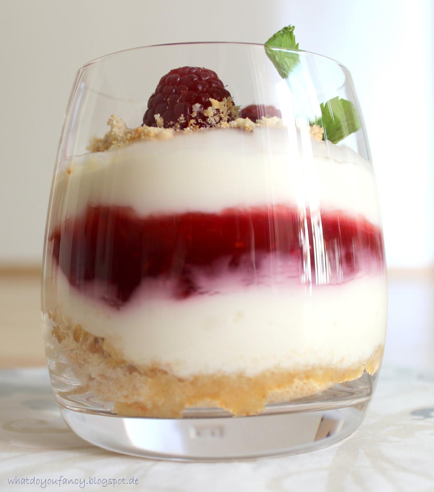 Cheesecake-Creme im Glas