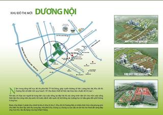 Vị trí dự án KĐT Dương Nội
