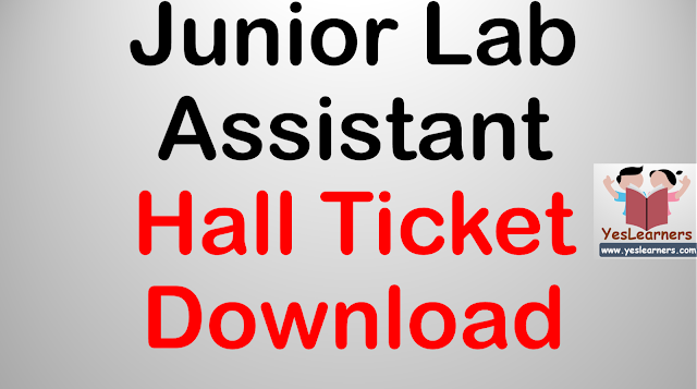 Download Junior Lab Assistant Hall ticket