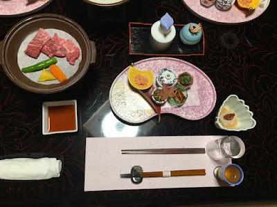富士乃湯旅館の夕食・序盤