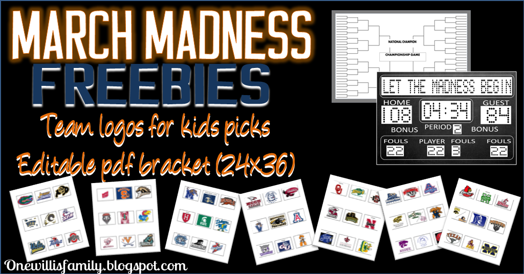 March Madness team logos