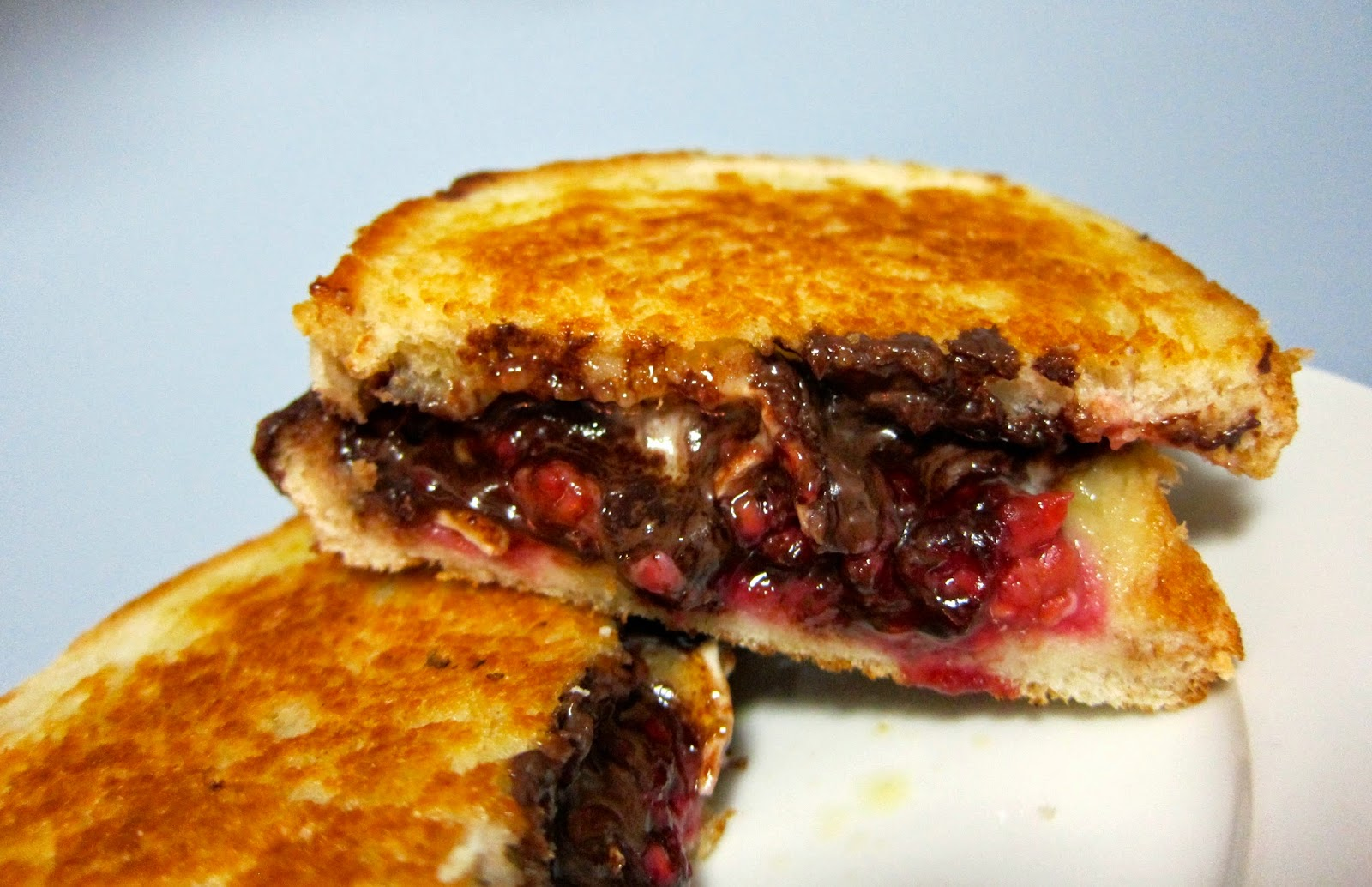 dark chocolate raspberry and brie grilled cheese dessert sandwich recipe