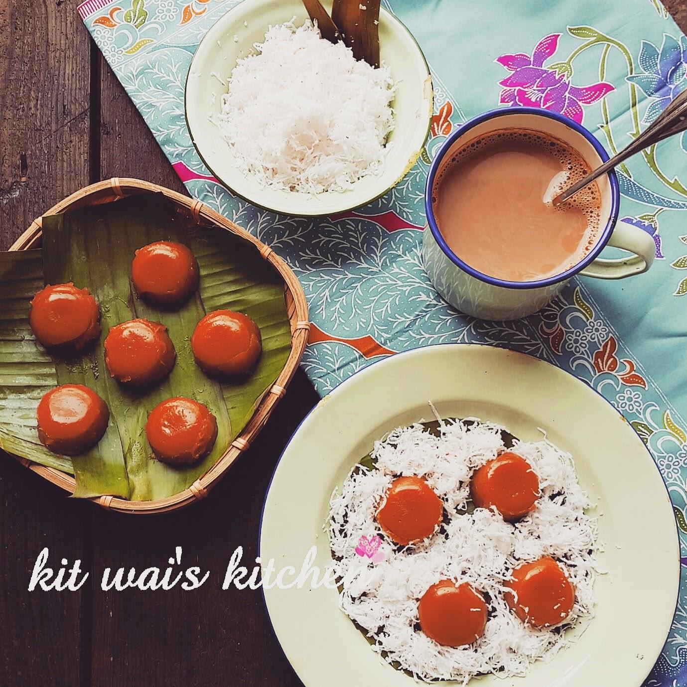 Kit Wai's Kitchen : 椰糖椰丝糕 ( II )~ Gula Melaka Kuih Kosui
