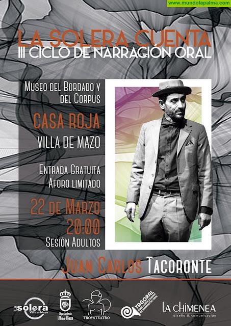 El actor y narrador oral Juan Carlos Tacoronte protagoniza una nueva entrega de 'La Solera Cuenta'
