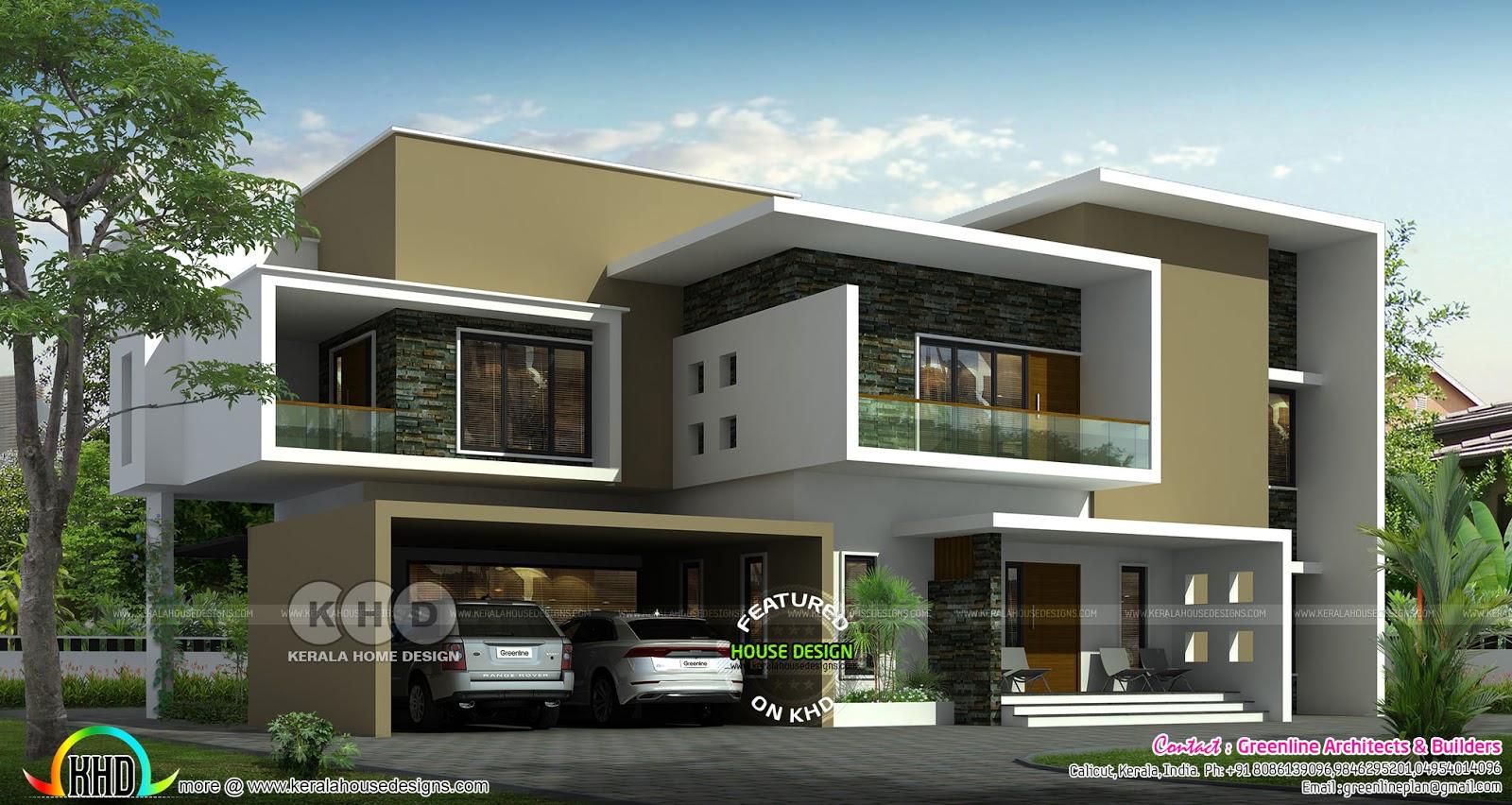 Unique box model contemporary 20 BHK house architecture   Kerala ...
