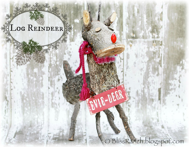 Bliss-Ranch.com Log Reindeer