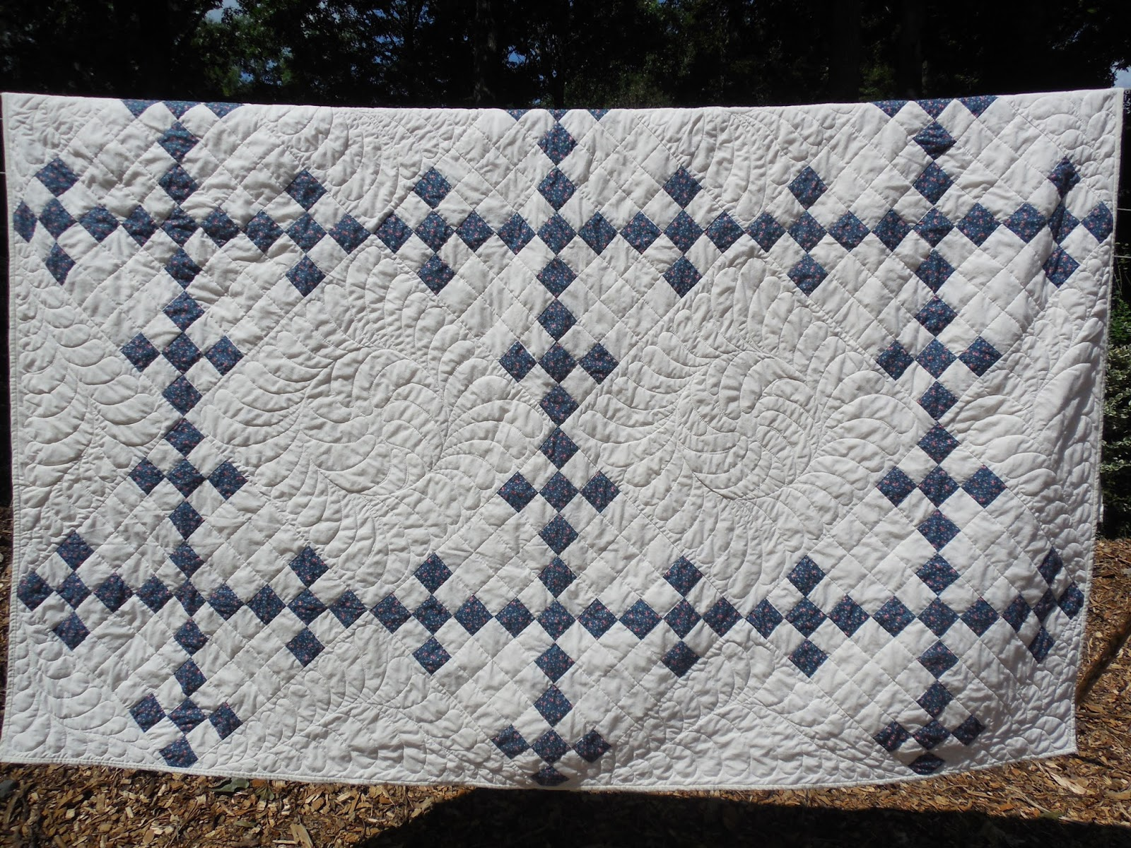 Beths blue and white quilt