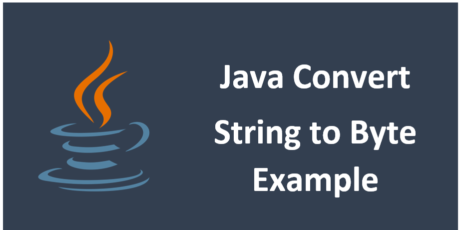 Java Convert String To Byte Example