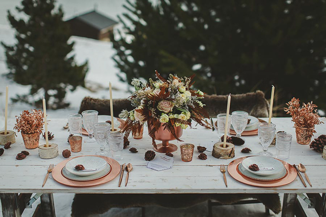 immacle boho wedding winter invierno boda pirineo nieve