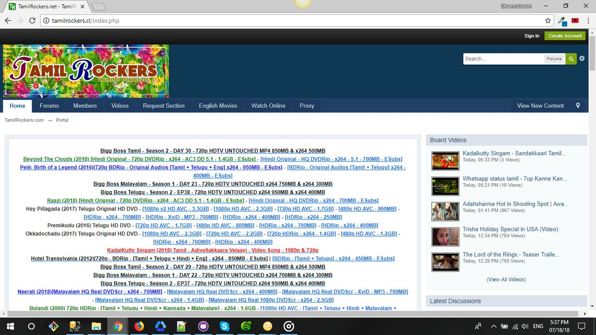Finding Tamilrockers Website