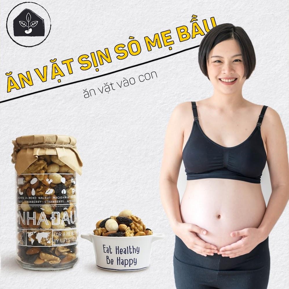 Combo ăn vặt Nhà Đậu: Thực phẩm bổ dưỡng cho tháng đầu mang thai
