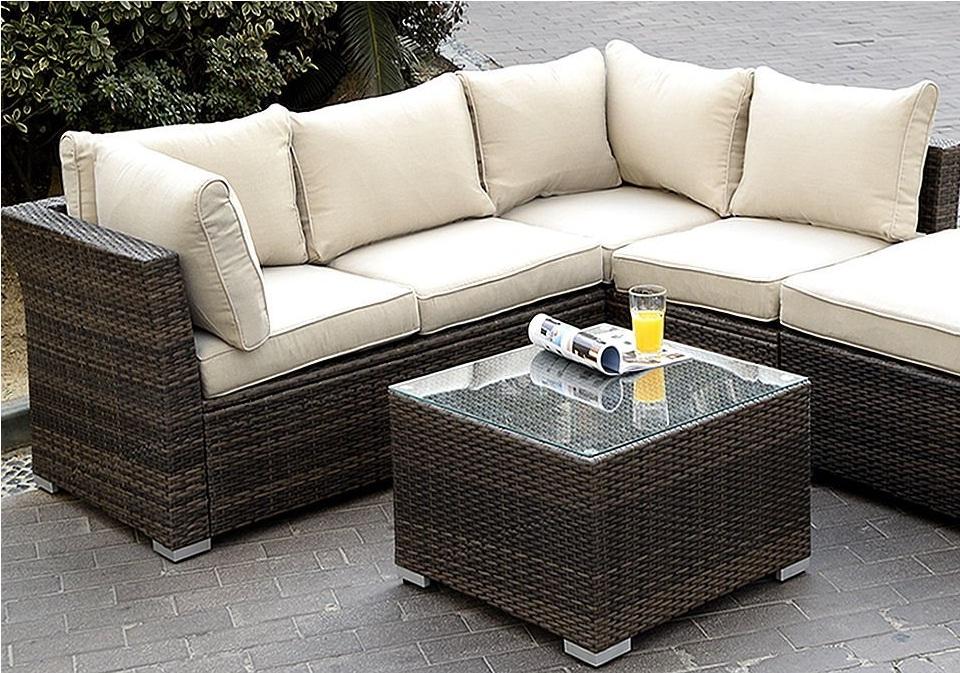 Fabulous Giantex 6Pc Patio Sectional Furniture Pe Wicker Rattan Sofa Machost Co Dining Chair Design Ideas Machostcouk