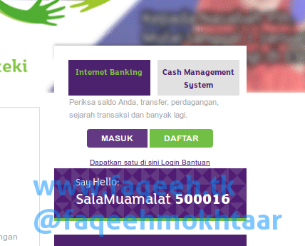 Menu Login Internet Banking Bank Muamalat