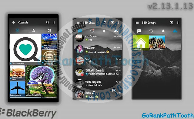 download BBM Mod 2.13.1.13 Tema Transparan GoRankPathTooth Apk