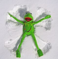 kermit in the snow