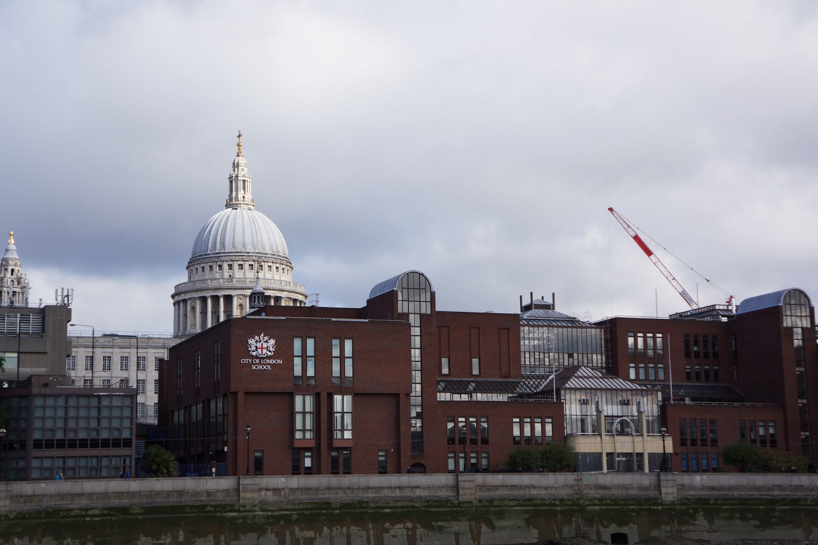 view of st pauls from river thames