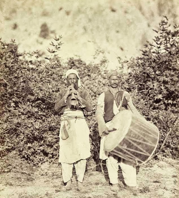 Gipsy musicians from Macedonia October 1863 - Macedonia in 1863 - Photo Collection of Josef Székely