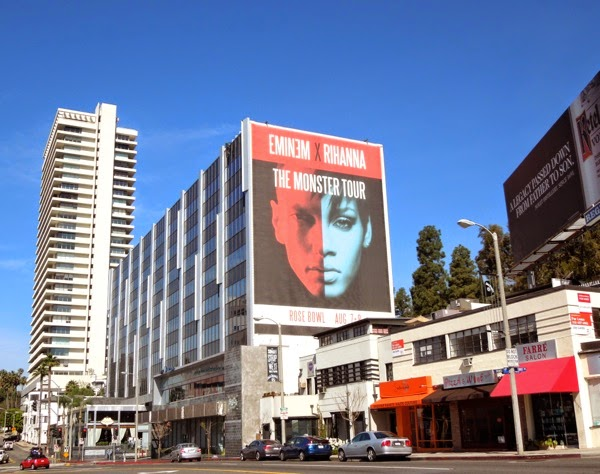 Giant Eminem Rihanna Monster Tour LA billboard