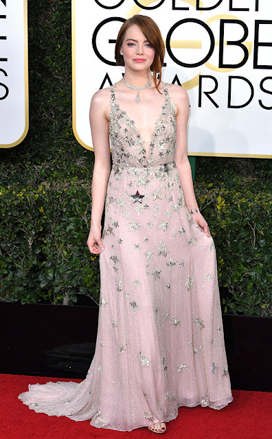 emma stone, valentino, actriz, golden globes awards, la la land, mejor actriz