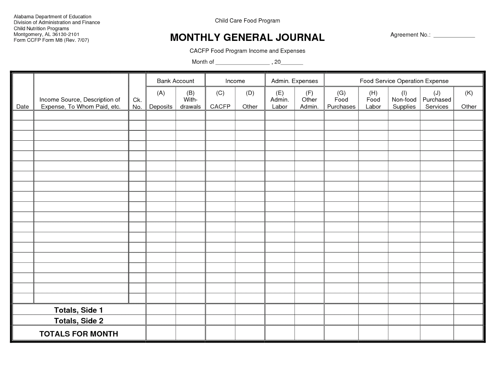 Printable Ledger Simple Sales Plan Sale Contract Sample
