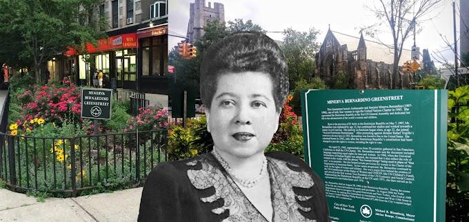 Piden eliminar placa en memoria de Minerva Bernardino de  espacio público en el Alto Manhattan
