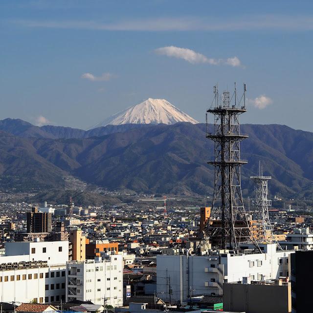 甲府城 舞鶴城公園 富士山