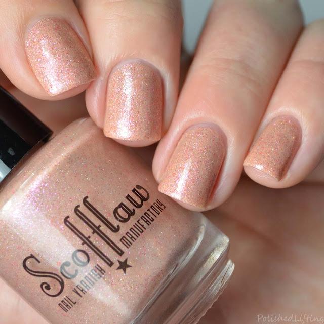 orange shimmer nail polish